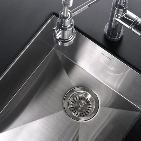 "Image of Houzer CTR-1700 17"" Stainless Steel Zero Radius Undermount Prep Sink"