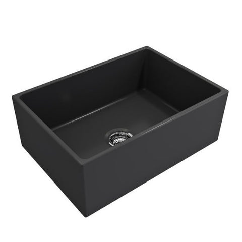 "Image of Crestwood CW-MOD-27 27"" Charcoal Modern Single Bowl Smooth Fireclay Farmhouse Sink - Annie & Oak"