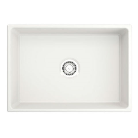 "Image of Crestwood CW-MOD-27 27"" White Modern Single Bowl Smooth Fireclay Farmhouse Sink-Annie & Oak"