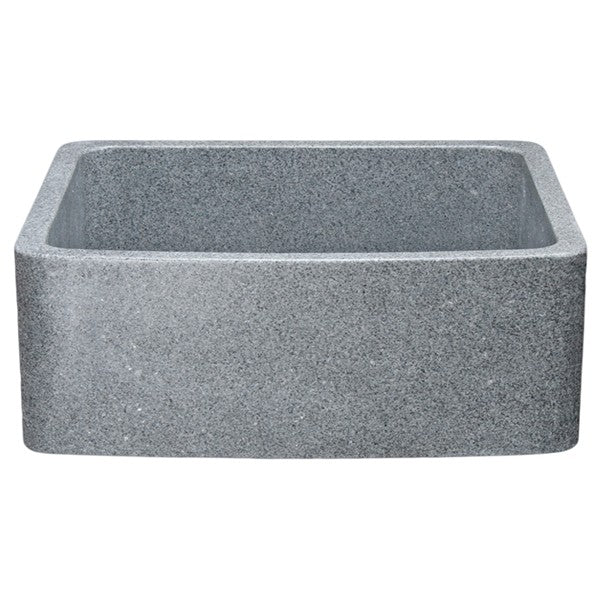 "Allstone KFCF242110 24"" Mercury Granite Curved Front Single Bowl Stone Farmhouse Sink"