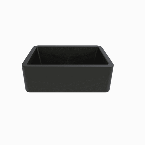 "Latoscana LA3019B 30"" Black Metallic Granite Farmhouse Sink - Annie & Oak"