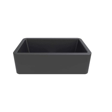 Image of Latoscana 33 Farmhouse Sink Titanium Gray Metallic Granite LA3319T - Annie & Oak