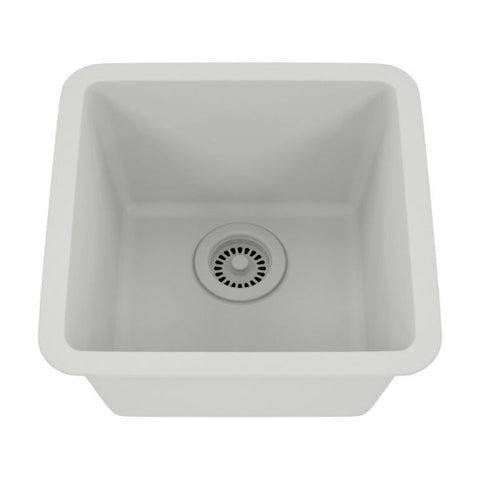 "Image of Lexicon Platinum 15"" White Quartz Single Composite Sink w/ Grid LP-1515 - Annie & Oak"
