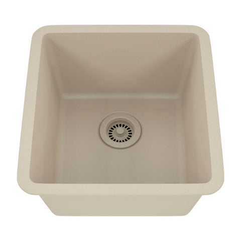 "Image of Lexicon Platinum 16"" Beige Quartz Single Composite Sink w/ Grid LP-1618 - Annie & Oak"