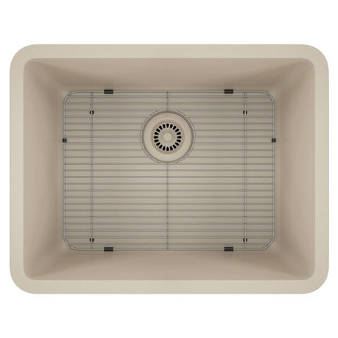 "Image of Lexicon Platinum 23"" Beige Quartz Single Composite Sink w/ Grid LP-2318 - Annie & Oak"