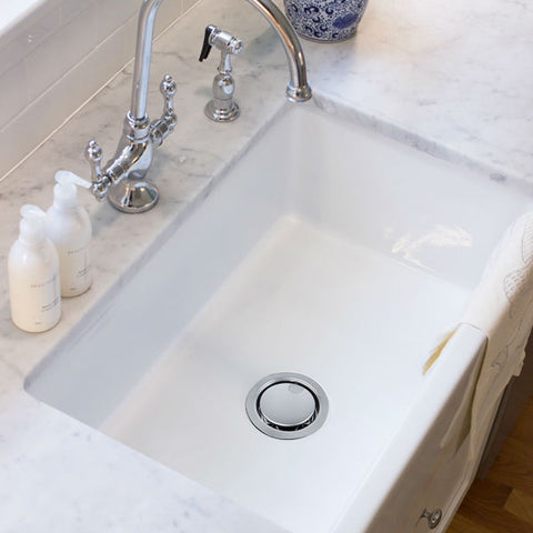"Image of Nantucket 3.5"" Stainless Steel Crumb Cup Disposal Drain Kitchen Drain NS35LCC-DD-Annie & Oak"