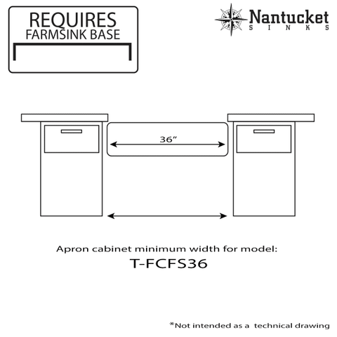 Image of Nantucket 36 Inch Fireclay Farmhouse Sink White Single Bowl T-FCFS36-Annie & Oak