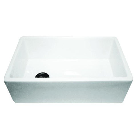 "Image of Nantucket FCFS30 30"" White Single Bowl Fireclay Farmhouse Sink with Grid - Annie & Oak"
