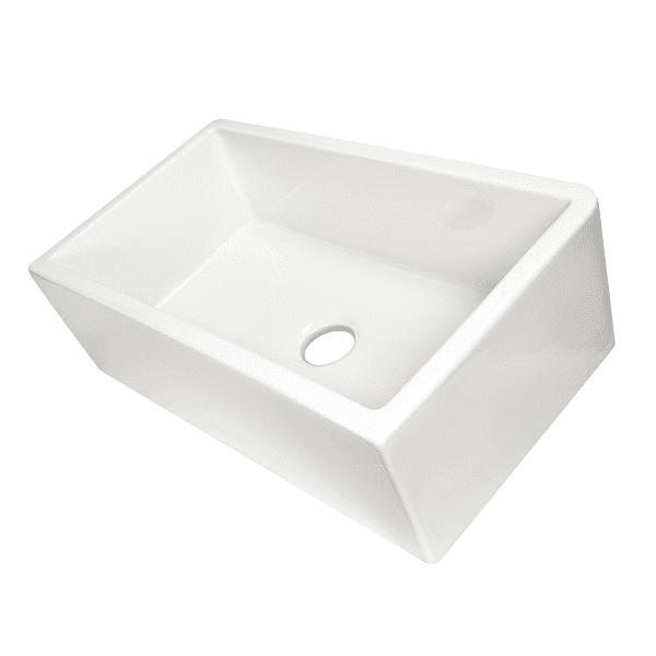 Nantucket Harwich-33 Fireclay Farmhouse Sink Reversible Italian White - Annie & Oak