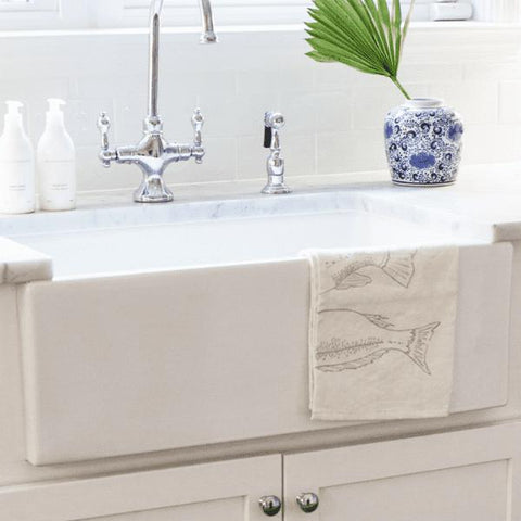 Nantucket Hyannis-30 Fireclay Farmhouse Sink Italian Single Bowl White - Annie & Oak
