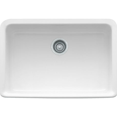 "Franke MHK110-28WH 27"" White Single Bowl Fireclay Farmhouse Sink - Annie & Oak"