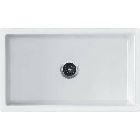 "Image of Franke FH2K710-30WH 30"" White Single Bowl Fireclay Farmhouse Sink - Annie & Oak"