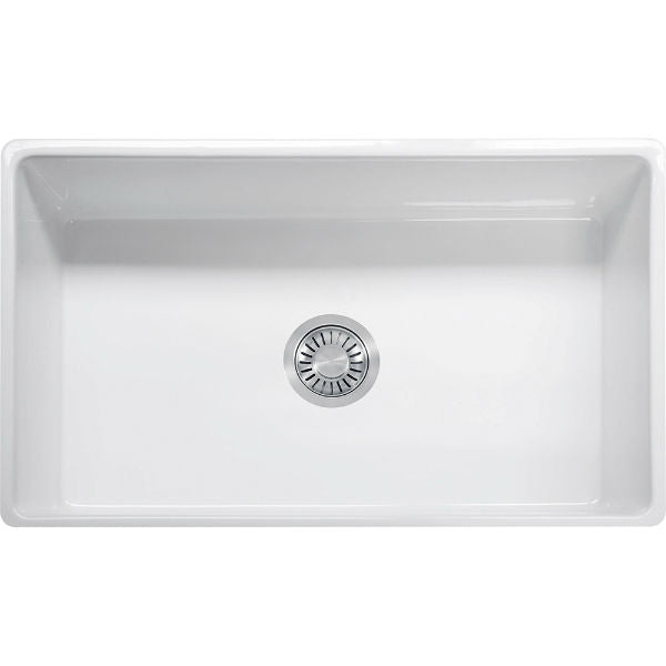"Franke FH2K710-33WH 33"" White Single Bowl Fireclay Farmhouse Sink - Annie & Oak"