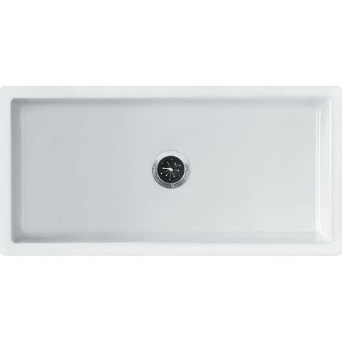"Franke FH2K710-36WH 36"" White Single Bowl Fireclay Farmhouse Sink - Annie & Oak"