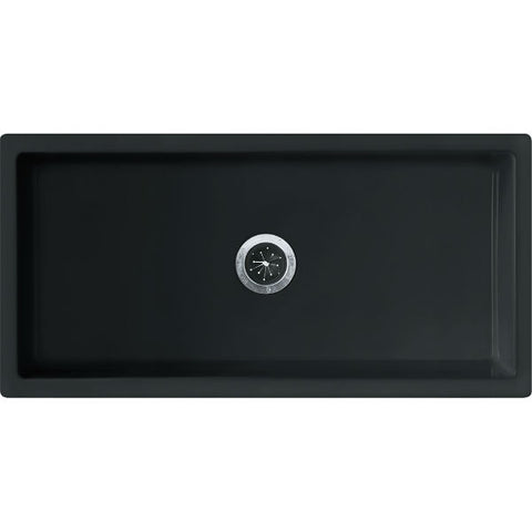"Image of Franke FH2K 710-36 36"" Black Single Bowl Fireclay Farmhouse Sink - Annie & Oak"