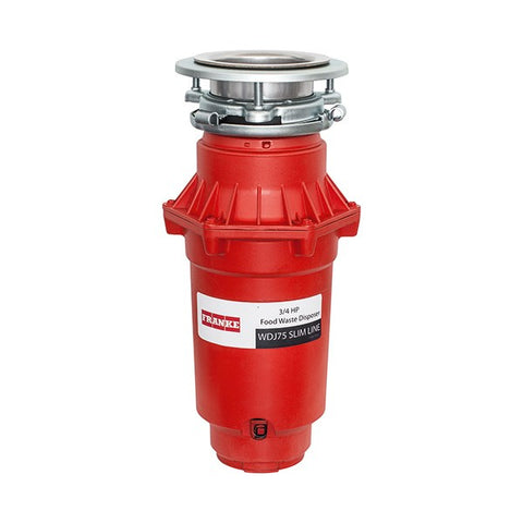 "Franke WDJ75 14"" Red 3/4 Hp Continuous Waste Disposer"