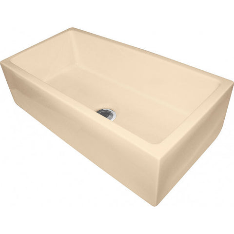 "Franke FH2K710-36BC 36"" Biscuit Single Bowl Fireclay Farmhouse Sink - Annie & Oak"