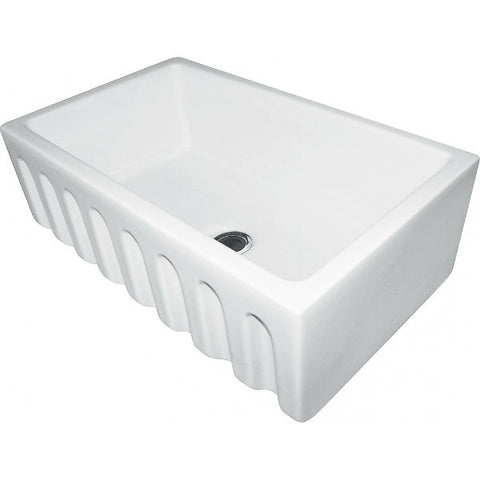 "Franke FH2K710-30WH 30"" White Single Bowl Fireclay Farmhouse Sink - Annie & Oak"