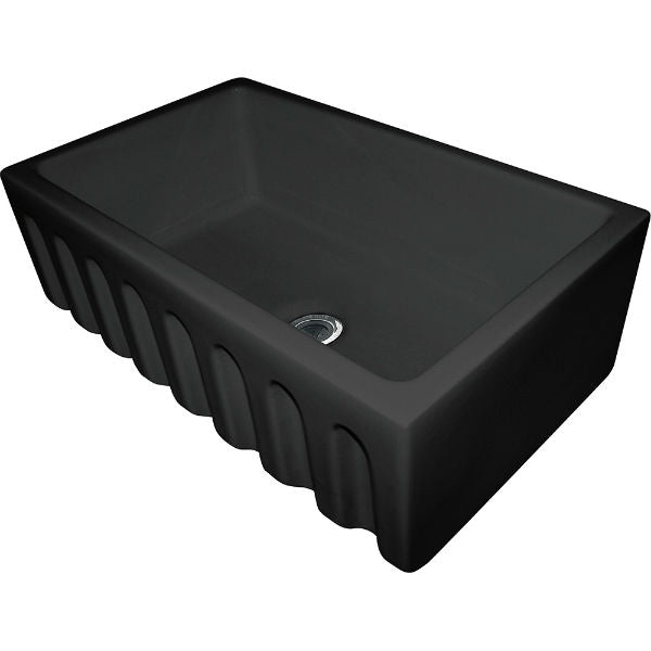 "Franke FH2K710-30GB 29"" Black Single Bowl Fireclay Farmhouse Sink - Annie & Oak"