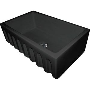 "Franke FH2K710-30GB 29"" Black Single Bowl Fireclay Farmhouse Sink-Annie & Oak"