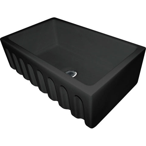 "Image of Franke FH2K710-30GB 29"" Black Single Bowl Fireclay Farmhouse Sink - Annie & Oak"