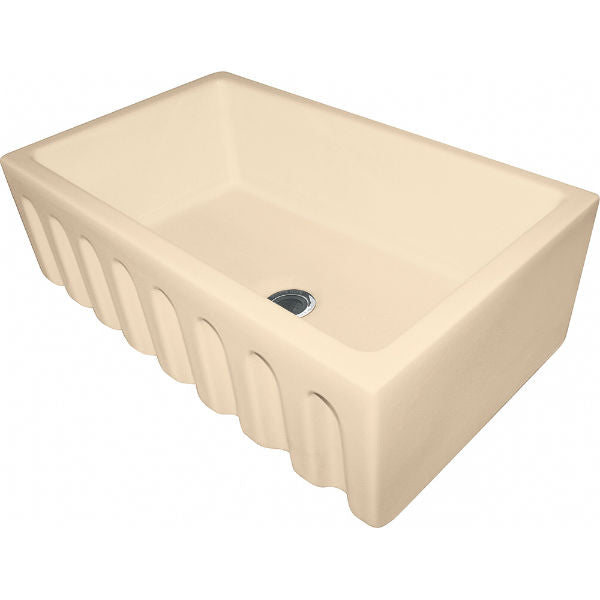 "Franke FH2K710-30BC 30"" Biscuit Single Bowl Fireclay Farmhouse Sink-Annie & Oak"