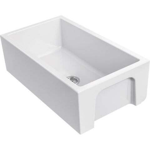 "Image of Franke FH2K710-33WH 33"" White Single Bowl Fireclay Farmhouse Sink - Annie & Oak"