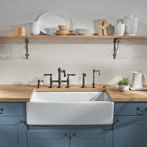 Rohl Fireclay Farmhouse Sink 36 Shaws Original Lancaster RC3618 - Annie & Oak