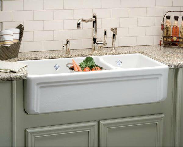 Rohl Shaws Egerton Casement Edge Apron 39 Fireclay Farmhouse Sink RC4018 - Annie & Oak