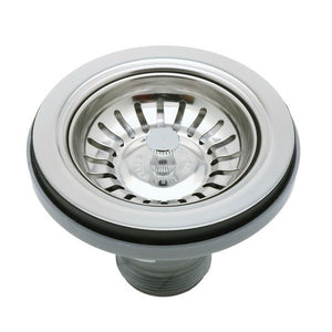 "Rohl 733APC 3 1/2"" Polished Chrome Manual Basket Strainer w/o Remote Pop-Up - Annie & Oak"