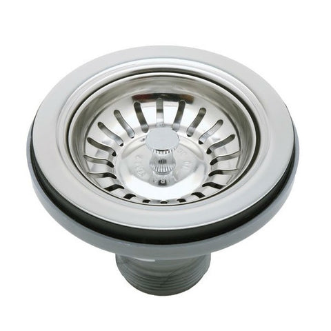 "Image of Rohl 733APC 3 1/2"" Polished Chrome Manual Basket Strainer w/o Remote Pop-Up - Annie & Oak"