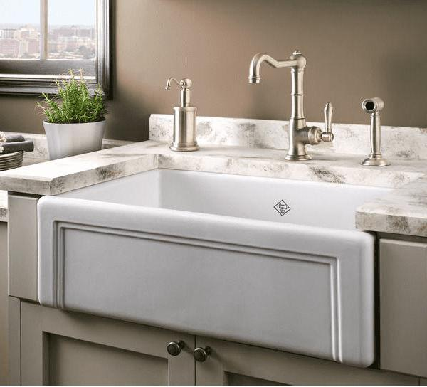 Rohl Shaws Egerton Casement Edge Apron 30 Fireclay Farmhouse Sink RC3017 - Annie & Oak