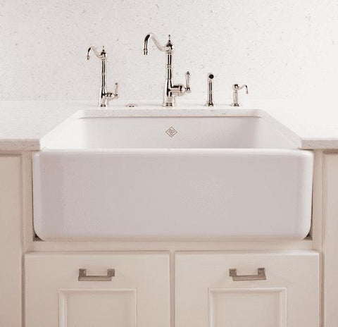 Image of Rohl Fireclay Farmhouse Sink 36 Shaws Original Lancaster RC3618 - Annie & Oak