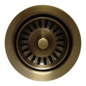 "Whitehaus 3 ½"" Antique Brass Waste Disposer Trim for Deep Fireclay Sinks WH202-Annie & Oak"