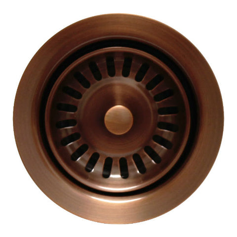 "Whitehaus 3 ½"" Antique Copper Waste Disposer Trim for Deep Fireclay Sinks WH202 - Annie & Oak"