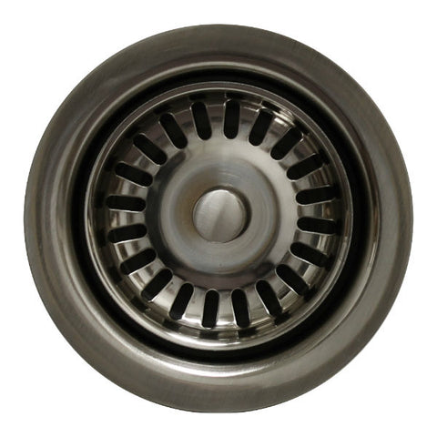 "Whitehaus 3 ½"" Brushed Nickel Waste Disposer Trim for Deep Fireclay Sinks WH202-Annie & Oak"