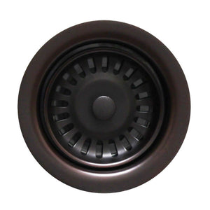 "Whitehaus 3 ½"" Oil Rubbed Bronze Disposer Trim for Deep Fireclay Sinks WH202-Annie & Oak"