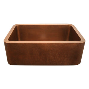 "Whitehaus WH2519COFC 25"" Smooth Copper Single Bowl Farmhouse Sink - Annie & Oak"