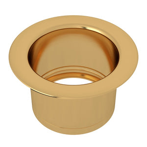 "Rohl ISE10082 3 1/2"" Italian Brass Extended Kitchen Disposal Flange - Annie & Oak"
