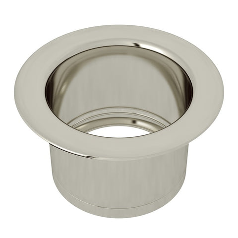 "Rohl ISE10082 3 1/2"" Polished Nickel Extended Kitchen Disposal Flange-Annie & Oak"