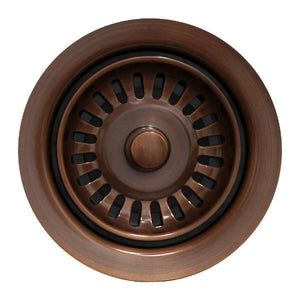 Whitehaus 3 1/2'' Antique Copper Waste Disposer Trim for Fireclay Sinks WH200 - Annie & Oak