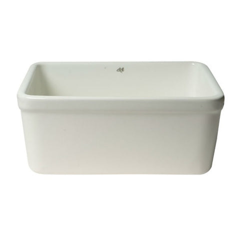 "Alfi Brand AB507 20"" White Single Bowl Apron Fireclay Farmhouse Kitchen Sink - Annie & Oak"