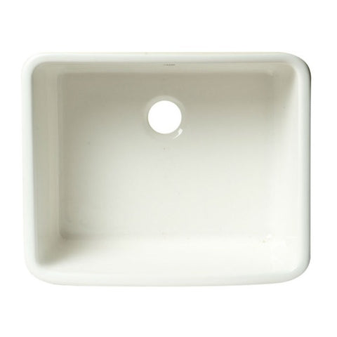 "Image of Alfi Brand AB507 20"" White Single Bowl Apron Fireclay Farmhouse Kitchen Sink - Annie & Oak"