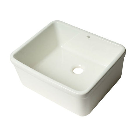 "Alfi Brand AB507 20"" White Single Bowl Apron Fireclay Farmhouse Kitchen Sink-Annie & Oak"