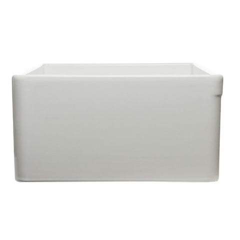 "Image of ALFI brand AB533-W 33"" White Smooth Single Bowl Fireclay Farmhouse Sink-Annie & Oak"