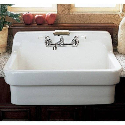 "Image of American Standard 30"" Vitreous China Wall Mount Country Kitchen or Utility Sink - Annie & Oak"