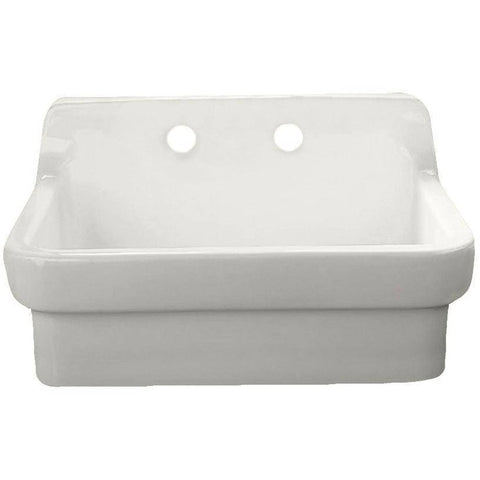 "American Standard 30"" Vitreous China Wall Mount Country Kitchen or Utility Sink-Annie & Oak"