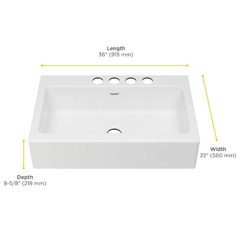 "American Standard Delancey 36"" White Single Bowl Cast Iron Farmhouse Sink - Annie & Oak"