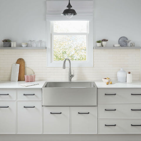 "American Standard Avery 36"" Stainless Steel Single Bowl Farmhouse Sink w/ Grid - Annie & Oak"