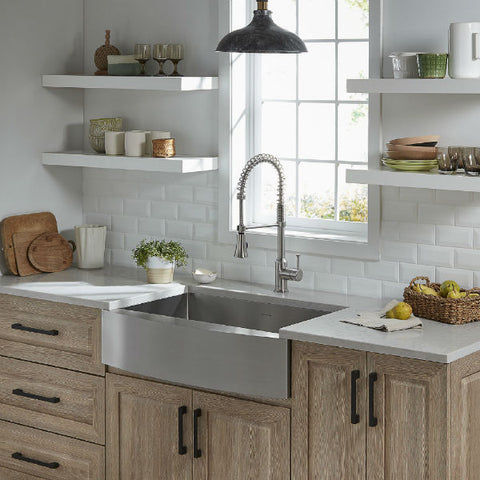 "American Standard Pekoe 33"" Stainless Steel Single Bowl Farmhouse Sink w/ Grid-Annie & Oak"